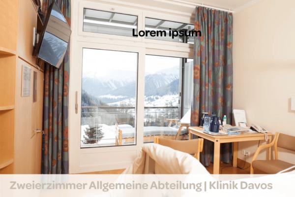 Zweierzimmer-Allgemeine-Abteilung_Klinik-Davos